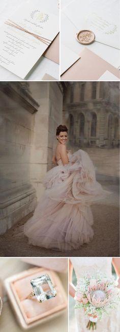 European Blush Wedding Style - Wiley Valentine