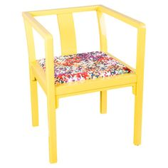 Lila Accent Chair in Yellow.