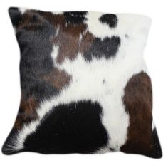 We love these cushions for adding a touch ofcowhide to a roomgiving ita contemporary Alpine edge.    Each product is unique due to the nature of cowhide. Whilst tri-colour cow hide is extremely popular, there are other colour options available such as light or dark brown and white. Please contact us to find out more.