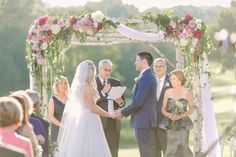 ceremony design. pinks, lavender, chartreuse   photo: Jessa Love & Light
