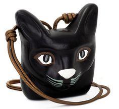 Loewe  Collier chat en cuir