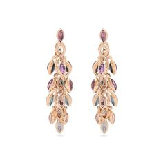 Marie Mas Reversible multi-stone & pink-gold earrings (216.719.945 IDR) ❤ liked on Polyvore featuring jewelry, earrings, pink, pink stud earrings, pink gold jewelry, rose gold stud earrings, rose gold earrings and polish jewelry