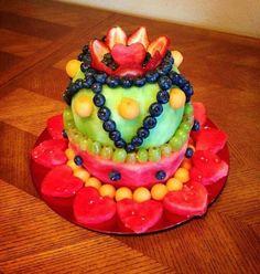 Fresh fruit and veggie cake