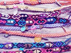 Really cute native pattern inspired friendship bracelets!