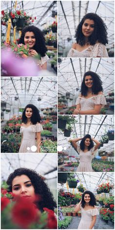 Camilla | Medina Ohio Greenhouse and Farm Portrait Session