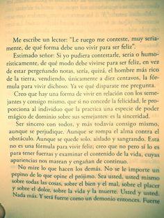 Fragmento del cuento La terrible sinceridad. Aguafuertes, Roberto Arlt