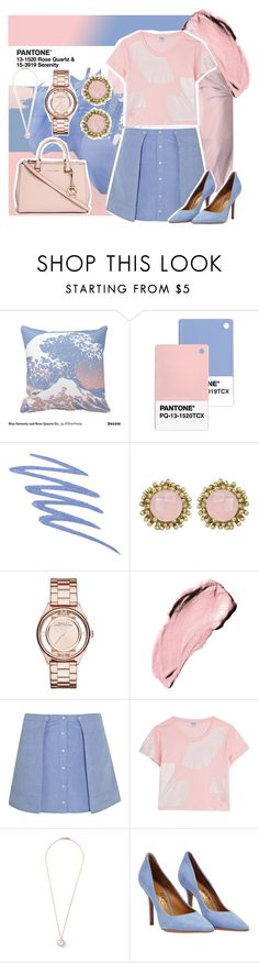 """""""Pantone Colour of 2016"""" by reemarie on Polyvore featuring Stila, Kendra Scott, Marc by Marc Jacobs, T By Alexander Wang, Kenzo, Ippolita, Salvatore Ferragamo, Michael Kors, contestentry and pantone"""