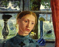 Paula Modersohn-Becker (German 1876–1907) [German Expressionism] A Girl's Head in Front of a Window, 1906.