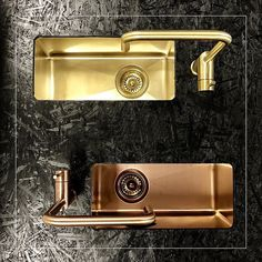 High-quality stainless steel faucets and sinks by @nivito_com focus on the latest technology with great designs too - Rhythm collection gold and bronze variants match perfectly in colors and surfaces #goforgold...x