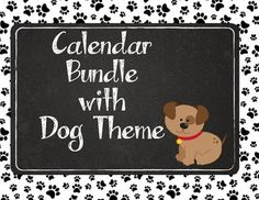 Have a doggone good year! Cute interactive bulletin board calendar with dog theme. Includes: Months of the Year Days of the Week Yesterday was... Today is... Tomorrow is... Dates 1-31 Date sized cards with major holidays (Valentine's Day, President's Day, etc.) Years (2014, 2015, 2016)