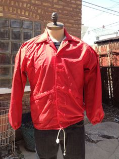 Vintage MENS PlayJac by Dunbrooke red nylon lined by pandaJpanda, $24.00