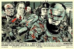 Tyler Stout's Robocop poster for Mondo.