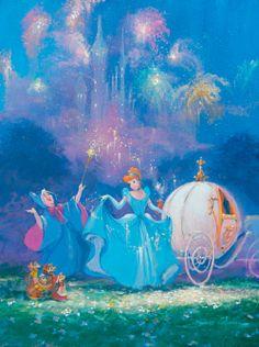 Walt Disney Cinderella by James Coleman Disney Dream, Disney Fun, Disney Girls, Disney Magic, Disney And Dreamworks, Disney Pixar, Walt Disney Characters, Disney Movies, Cinderella Art