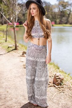 Playful and Pretty Boho Halter Top