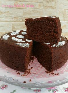 Bizcocho húmedo de chocolate Sweet Recipes, Cake Recipes, Dessert Recipes, Easy Chocolate Chip Cookies, Chocolate Cake, Nesquik, Plum Cake, Nice Cream, Sin Gluten