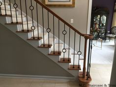 Iron Balusters Stairs For Your Staircase Design Ideas: After The Iron Baluster Upgrade From M C Staircase & Trim Removal