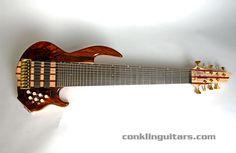 Custom Shop Cocobolo top Sidewinder 9 string bass