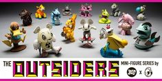 "Joe Ledbetter x Kidrobot - ""The Outsiders"" blind box mini series released!!! #Animals #BlindBox #Cute #Flocked #GlowintheDarkGID"