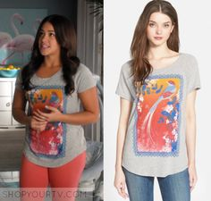 ShopYourTV | Clothes, Style, Fashion & Outfits worn on TV Shows Dress Outfits, Dress Up, Fashion Outfits, Style Fashion, Bird Graphic, Graphic Tees, Gina Rodriguez, Jane The Virgin, Spring Outfits