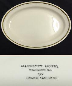 Homer Laughlin China platter made for the Marriott Hotel, Washington DC