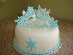 Ice Skating party cake idea
