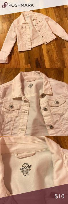 Jean jacket White jean jacket girls size 10/12. Worn once. Jackets & Coats Jean Jackets