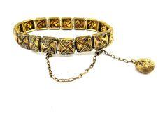Antique Gold Victorian Bracelet  Gold Filled by IfindUseekVintage