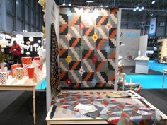 Maxhosa range of mohair rugs hand woven by Karoo Looms, on show at NY Now August 2014 August 2014, Inspired Homes, Afro, Hand Weaving, Range, Quilts, Blanket, Inspiration, Decor