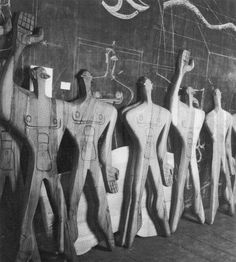 Wooden moulds (Modulor), Atelier Le Corbusier, 1957