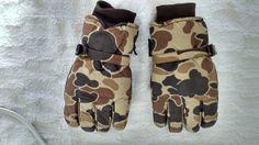 Rękawice zimowe moro wodoodporne rozm L/XL ( rękawiczki narciarskie )