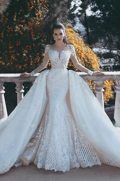 Gorgeous Long Sleeve Detachable Train White Lace Wedding Dress Gorgeous Long Sleeve Detachable Train White Lace Wedding Dress_Wedding Dresses Dresses_Fashion Special Occasion Dresses & Wedding Dresses On Sale: … White Lace Wedding Dress, Lace Mermaid Wedding Dress, Wedding Dresses For Sale, Wedding Dress Sleeves, Mermaid Dresses, Cheap Wedding Dress, Wedding Dress Styles, Bridal Dresses, Wedding Gowns