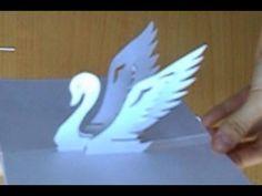 Kirigami Swan Pop-Up Card Tutorial