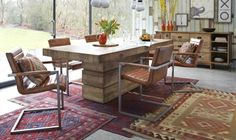 This San Quentin Tahoe Square Dining Table is handcrafted from beautiful woods which gives this unique singular look that ensures no two pieces are ever alike. Rustic Dining Chairs, Modern Dining Room Tables, Square Dining Tables, Dining Room Design, Dining Rooms, Rustic Table, Kitchen Tables Ikea, Small Rustic Kitchens, Rustic Furniture