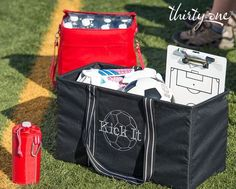 For the coach- player - or parent! Large Utility Tote, 31 Bags, Thirty One, Diaper Bag, Kicks, Bring It On, Product Ideas, Totes, Picnic