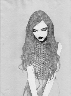 Anna Higgie fashion illustration