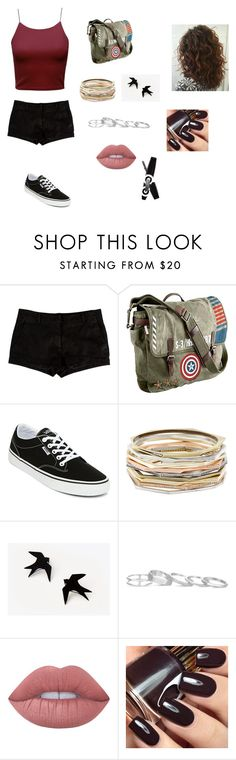 """""""Idk"""" by ktbspa-and-loveislove on Polyvore featuring moda, L'Agence, Marvel, Vans, Kendra Scott y Lime Crime"""