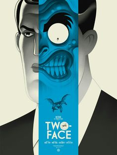 Two-Face Blue artwork by Erick Radomski