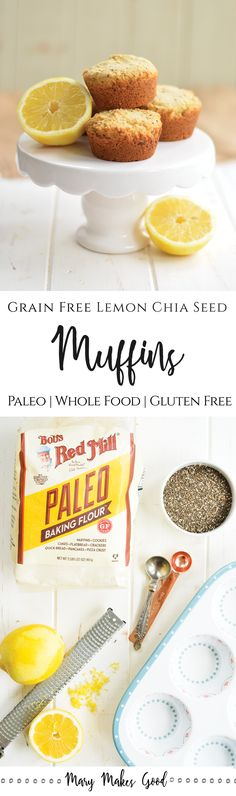 Make Your Own Grain Free Lemon Chia Seed Muffins! BobsSpringBaking post sponsored by @BobsRedMill. (AD)