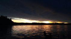 Sieltä se aamu tulee. #auringonnousu #aamu #sunrise #morning #lake #Puula #Hirvensalmi #Finland