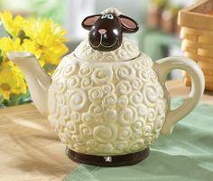 Whimsical Sheep Teapot from Collections Etc. Tea Pot Set, Pot Sets, Cute Teapot, Teapots Unique, Collections Etc, Teapots And Cups, Ceramic Teapots, Chocolate Pots, Tea Accessories