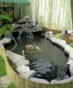 DIY BackYard Turtle Pond Designs Ideas A pond could possibly be built with cement to create a visually appealing pond shape which will be durable over the future. The pre-formed pond is most likely best for… Continue Reading → Turtle Aquarium, Turtle Pond, Pet Turtle, Ponds Backyard, Pond Landscaping, Large Backyard, Above Ground Pond, Turtle Homes, Garden Pond Design
