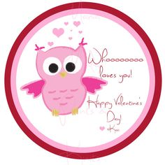 Printable Valentine's Day Owl Cupcake by MamaMadePrintsnKnits, $6.00