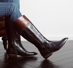 Flat-Out Chic: Fall Boots -   From smooth leather to velvety suede, these tall flat boots make for the perfect finishing touch to your favorite cool-weather wardrobe staples. Standout picks from sleek sliver wedges and buckled riding styles pair perfectly with skinny jeans and thigh grazing dresses alike.                   ...  #Activewear, #Boot, #Brooches, #Cap, #Diamond, #Dress, #Espadrille, #Footwear, #Laceup, #Loafers, #Motorcycle, #Pin, #RubberSole, #Sapphire, #Sneaker,