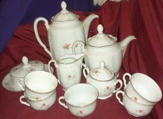 Vintage porcelain china coffee and tea 14 by oldnsalvagedtreasure, $35.00