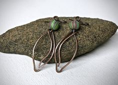 A personal favorite from my Etsy shop https://www.etsy.com/listing/538202487/copper-leaf-earrings