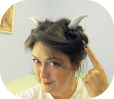 ...Make It With Me: Horn Hair Clips made with FIMO air clay (not to be confused with FIMO polymer clay)