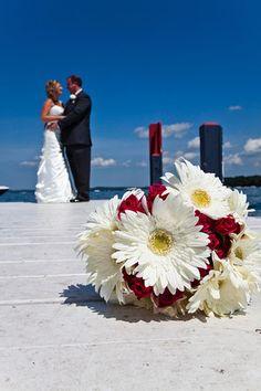 On the dock with the bride & groom | Matt Mason Photography | Lake Geneva, WI