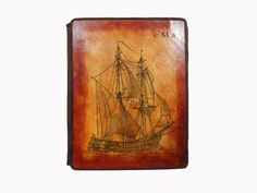 Custom Leather Apple iPad Case Sail Boat by joevleather on Etsy. $84.99, via Etsy.