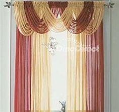 red and gold curtains