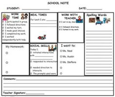PrAACtical Resources for Writing Notes to Send Home